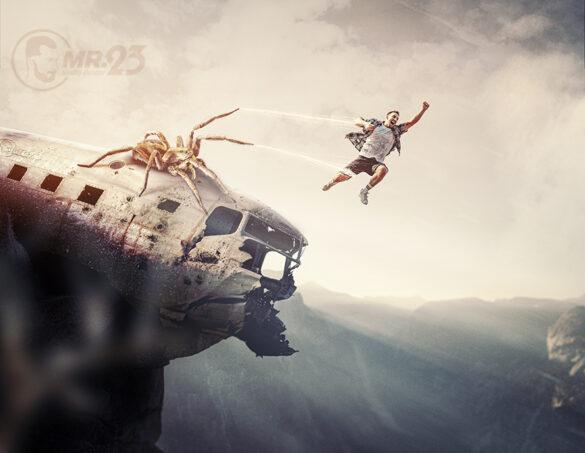 Giant Spider - Photo Manipulation - Mr23