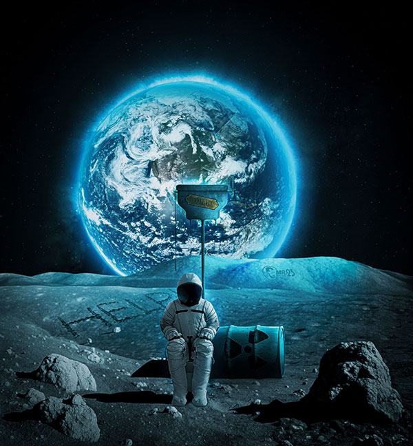 Space Toilet - Photo Manipulation